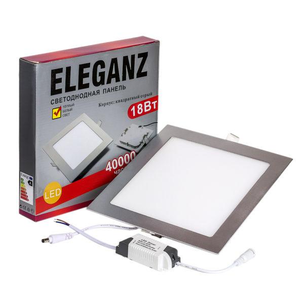 Светодиодная панель квадратная 18Вт Eleganz