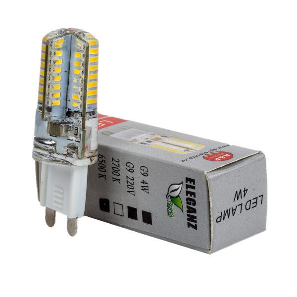 Светодиодная лампа G9 5Вт прозрачная диммируемая