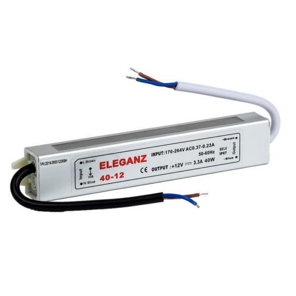 Блоки питания герметичный 40 Вт. IP 67 Eleganz