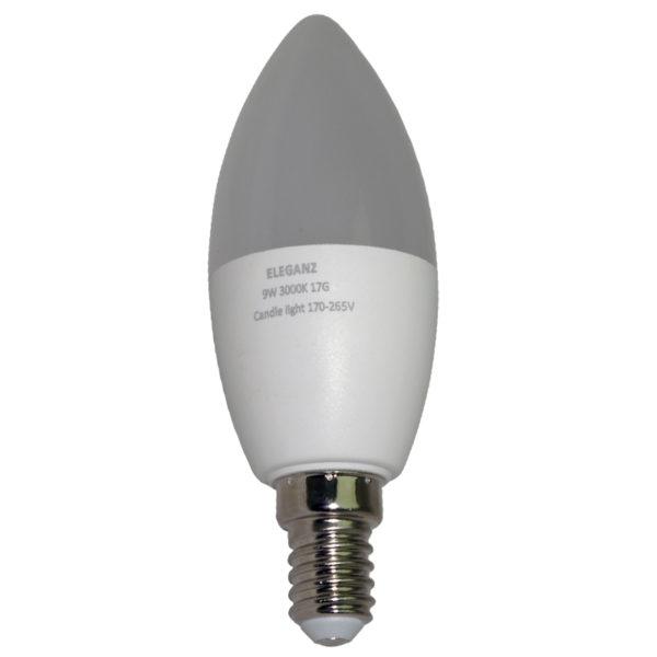 Светодиодная лампа 9 Ватт E14 C37