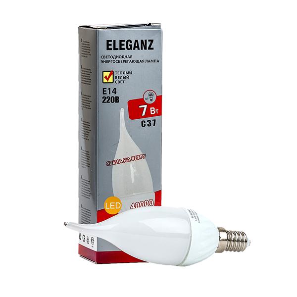 Светодиодная лампа E14-7Вт свеча на ветру Eleganz