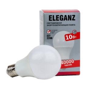Светодиодная лампа Eleganz E27 - 10Вт груша