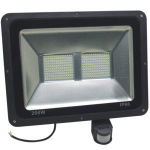 Светодиодный прожектор с датчиком 200 вт