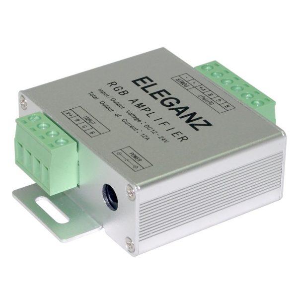 Усилитель для ленты RGB+белый 12-24V-18А