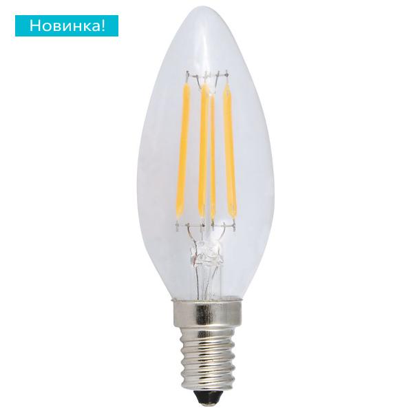 Светодиодная лампа Eleganz 5w e14 свеча нитевидная